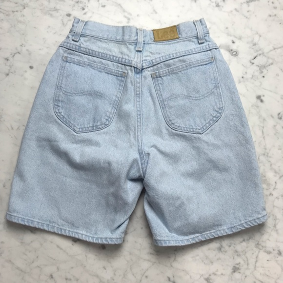 Lee Pants - Vintage Lee Light Wash Boyfriend Denim Jean Shorts